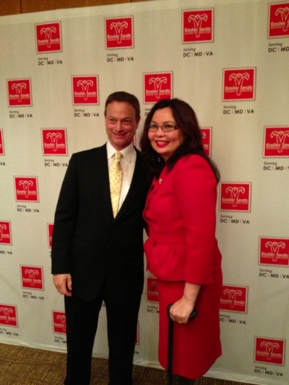 Gary Sinise and Congresswoman Tammy Duckworth