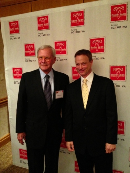 Gary Sinise and Tom Brokaw